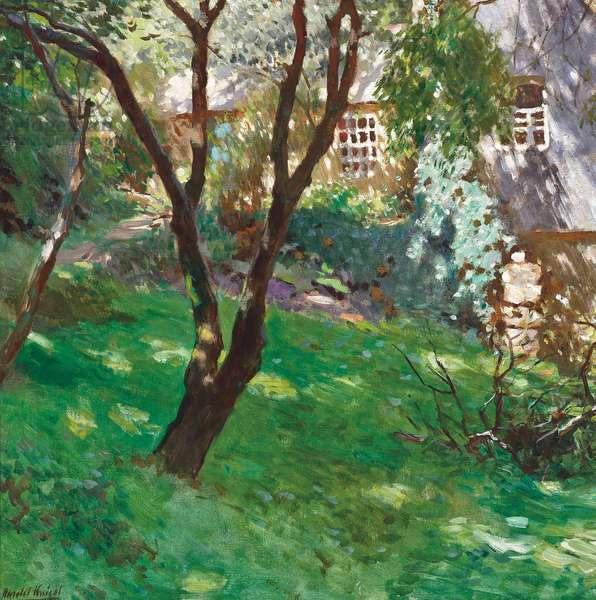 In the garden, Summer (oil on canvas)