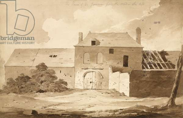 'No 5 The House of du Gourmon from the Wood on the Left', 1815 (w/c & pencil on paper)