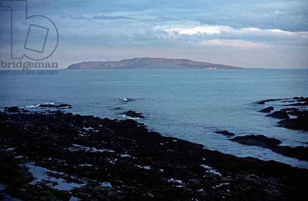 Lambay Island, Dublin, referred to in James Joyce novels, Ireland (photo)