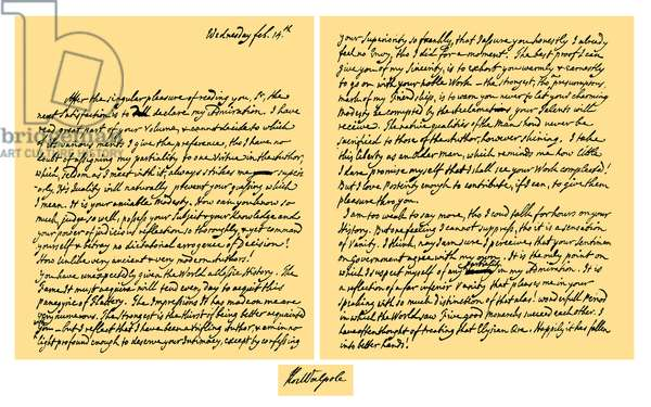 Autograph: Horace Walpole, 1776.