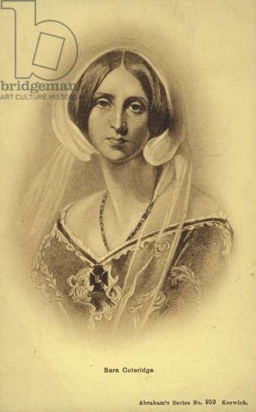 Sara Coleridge (1802-1852), English author and translator (litho)