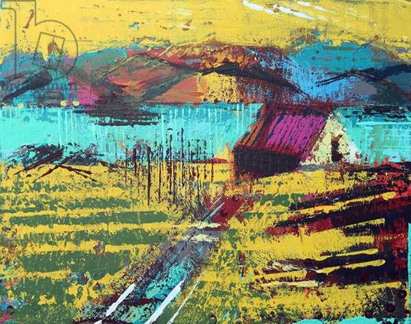 Retreat Iona (acrylic on canvas)