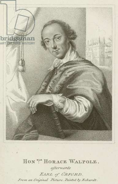 Honorable Horace Walpole, afterwards Earl of Orford (engraving)
