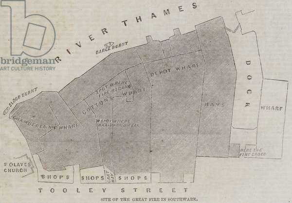 Site of the Great Fire in Southwark (engraving)