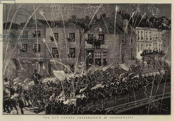 The Guy Fawkes Celebration at Bridgewater (engraving)