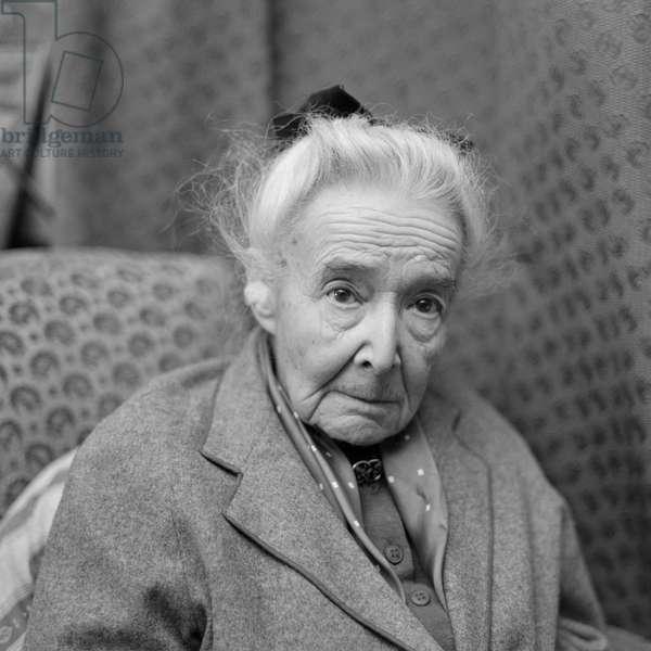 Switzerland Baronne Marie De Coubertin, 1960 (b/w photo)