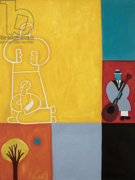 The family, 2001 ,(oil on linen)