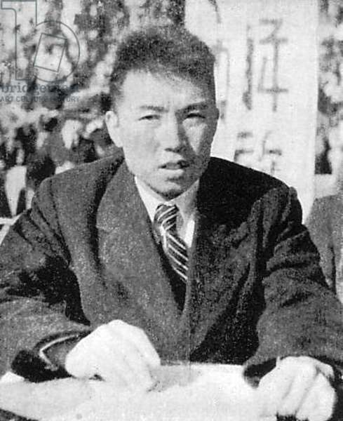 Korea: Kim Jong Il, the future supreme leader of North Korea (the Democratic Peoples Republic of Korea, DPRK) in 1946, probably in the Russian Far East