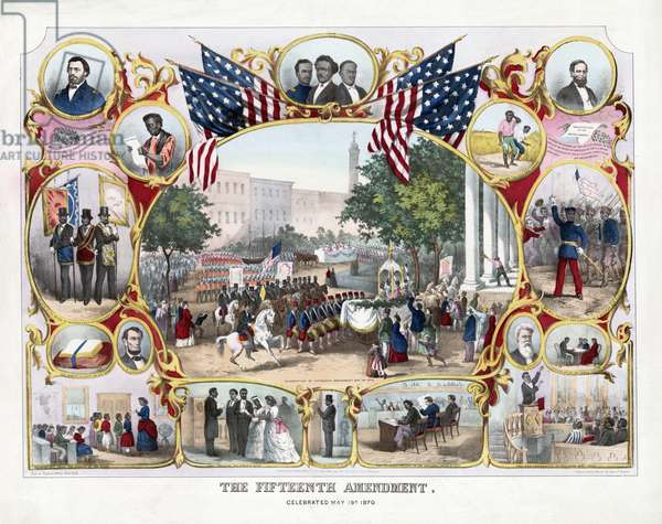 The Fifteenth Amendment. Celebrated May 19th, 1870, pub.1871 (colour litho)
