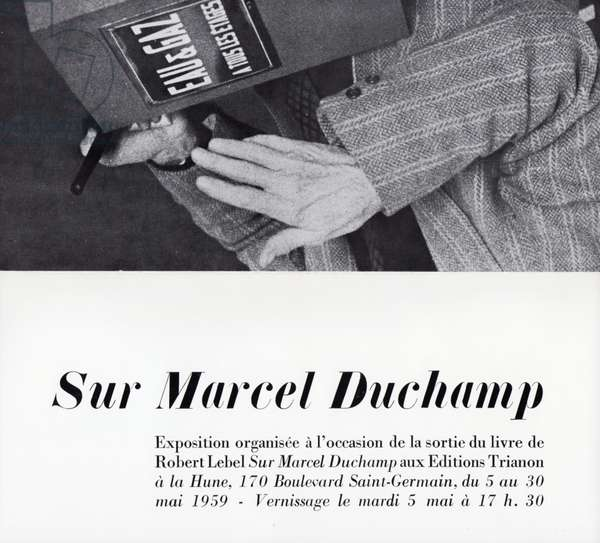 Exhibition poster for 'Sur Marcel Duchamp', at Librairie La Hune, Saint-Germain, Paris 1959 (litho)