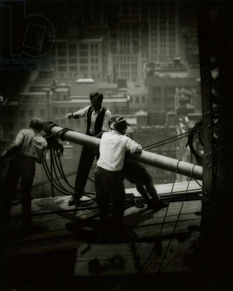 Empire State Building Construction - Workers Balancing Beams, New York, USA, c.1930-31 (gelatin silver photo)