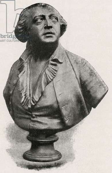 """Bust of Alessandro di Cagliostro, by Jean-Antoine Houdon, courtesy Messers. Hachette et Cie, Book Illustration from """"Cagliostro, The Splendour and Misery of A Master of Magic"""", Chapman and Hall LTD, W.R.H. Trowbridge, 1910"""
