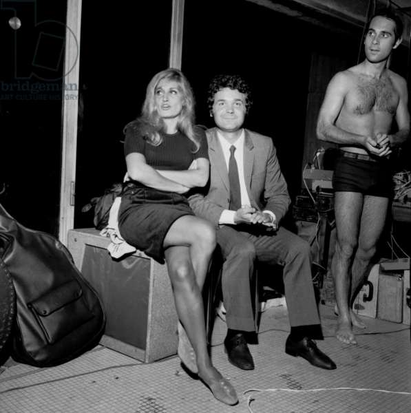 Dalida, Pierre Perret and Guy Marchand, 3 October 1966 (photo)