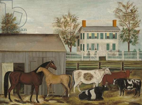 The Barnyard, late 19th century (oil on canvas)