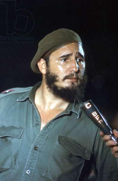 Fidel Castro, head of cuban state, in 1960
