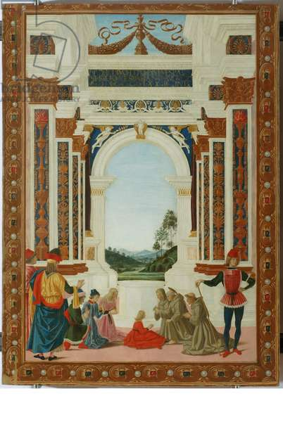 San Bernardino heals the daughter of Giovanni Antonio Petrazio da Rieti, c.1473 (tempera on panel)