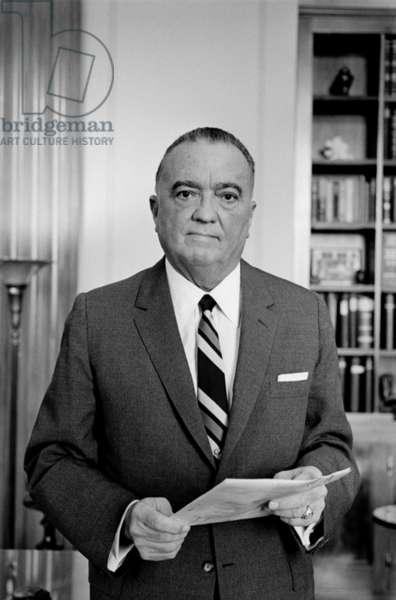 Edgar J. Hoover Director of the FBI in 1961
