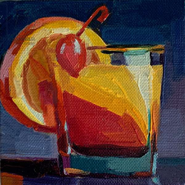 cocktail 1, 2019, (oil on canvas)