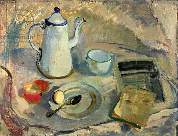 White Coffee-pot, 1962 (oil on card)
