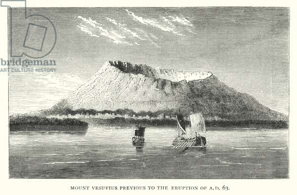Mount Vesuvius previous to the eruption of AD 63 (engraving)