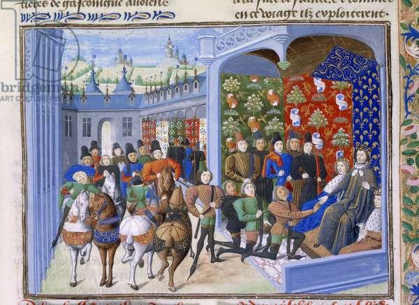Charles VI with English envoys