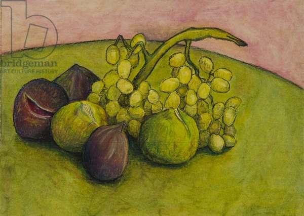 Summer fruit, 2006 (oil pastel on paper)