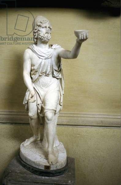 Odysseus (Ulysses) hero of Homer's epic poem The Odyssey. Statue.