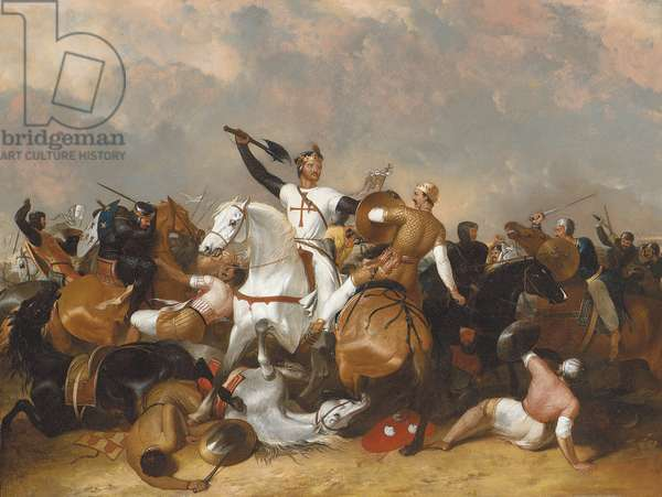 Richard I at the Battle of Ascolan (oil on canvas)