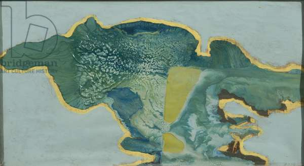 Aerial View, 1963 (enamel and oil on canvas)