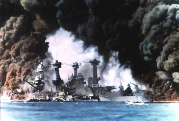 Japanese attack on Pearl Harbor, 7th December 1941 (photo)