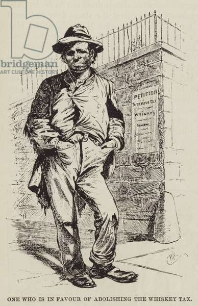 One who is in Favour of Abolishing the Whiskey Tax (engraving)