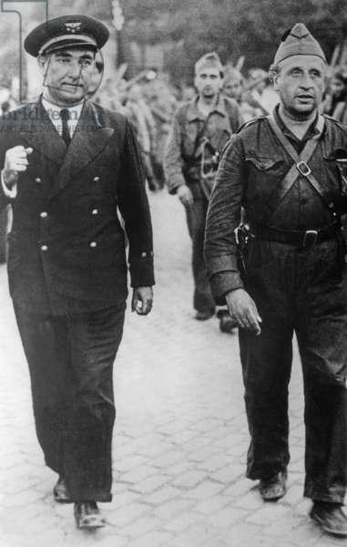 Captain Alberto Bayo Giroud during the march through Madrid, 1936