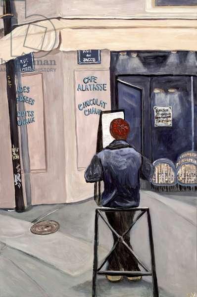 Contemplation, 2017, (acrylic on canvas)