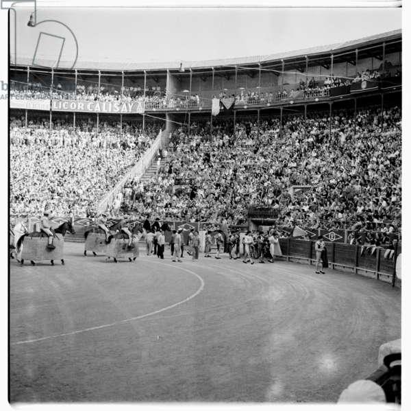 Spanish bullfight, c.1958 (b/w photo)