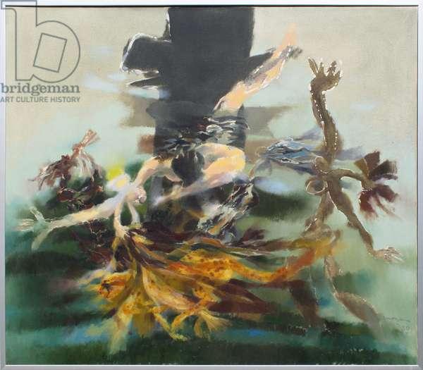 Mythical Figures, 1980 (oil on canvas)