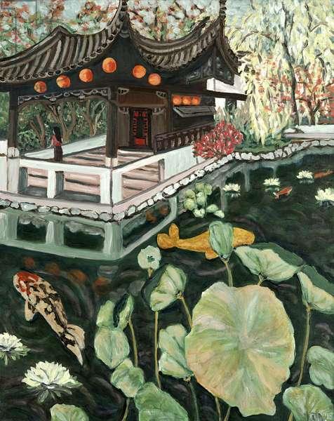 Lansu Fall, 2018, (acrylic on canvas)