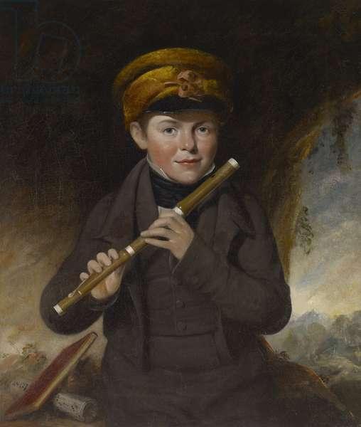 John Gurney, the Little Flute Player, c.1800 (oil on canvas)