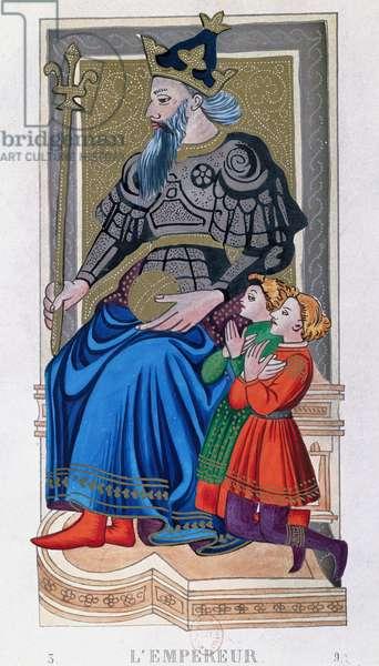 The Emperor, Charles VI tarot, France
