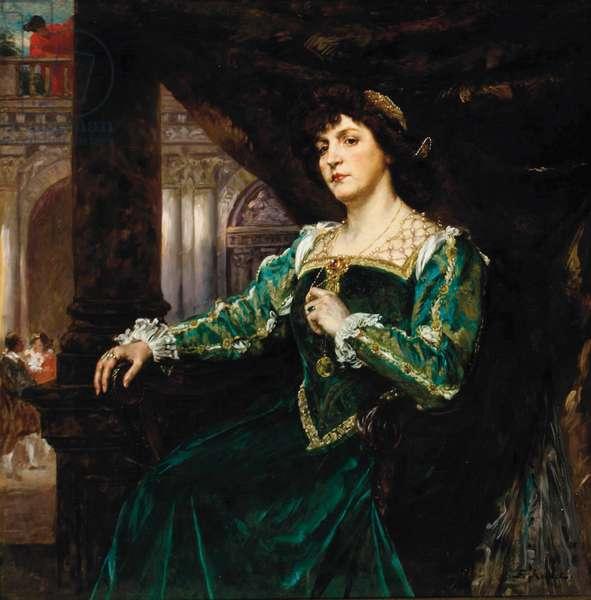 Portrait of Madame Clémenceau (oil on panel)