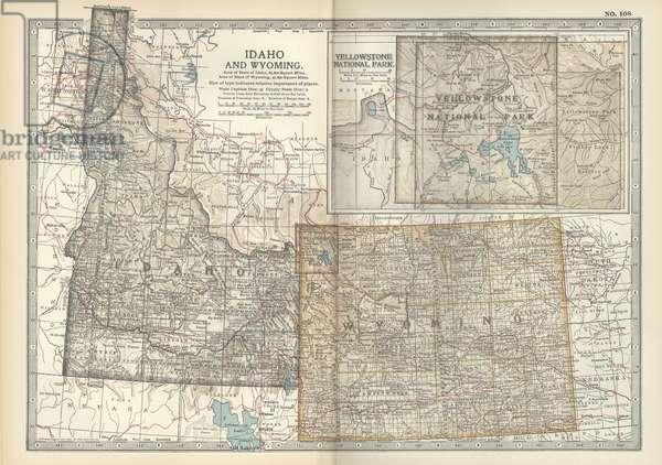 Map of Idaho and Wyoming