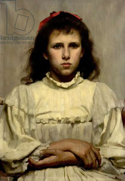 Girl with a Red Bow, 1896 (oil on canvas)