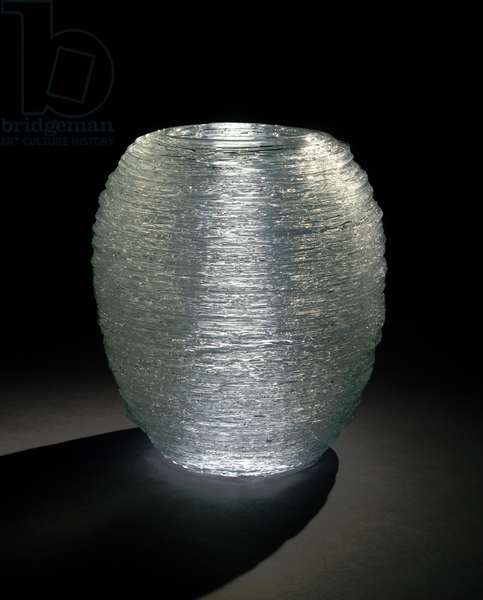 Waterspout #5, 1994 (blown glass with spun glass threads)