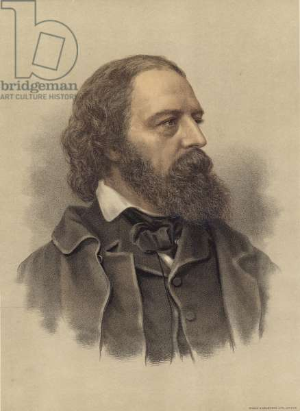 Alfred Lord Tennyson (colour litho)