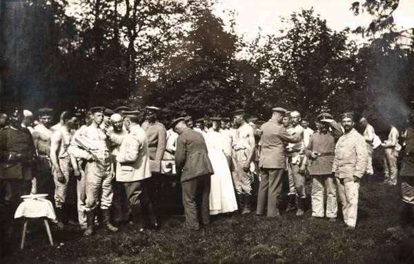 German Soldiers Receiving Vaccines, WWI, Poland, 1915-18 (silver gelatin print)