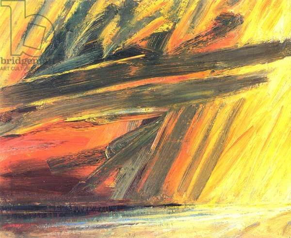 Stormy Sunset, Largo Bay, 2002 (oil on canvas)