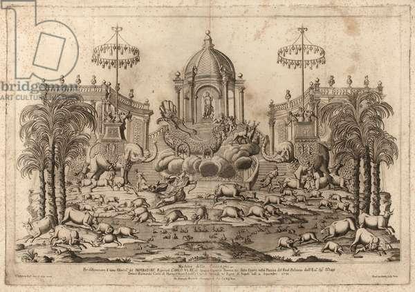 Fêtes de Cocagne à Naples, from Fêtes Napolitaines Baroques, 1729-34 (engraving)