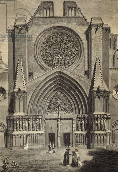 Tarragona Cathedral, Spain (engraving)