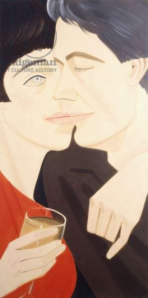 Jennifer and Mathieu, 1986 (oil on canvas)