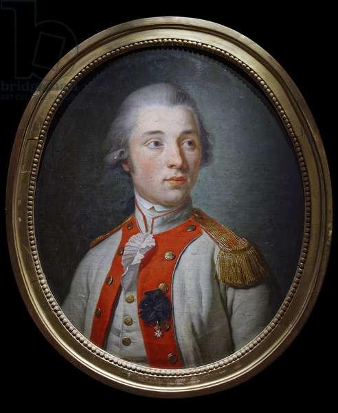 Lieutenant in the Artois Infantry Regiment, c.1780 (oil on canvas)
