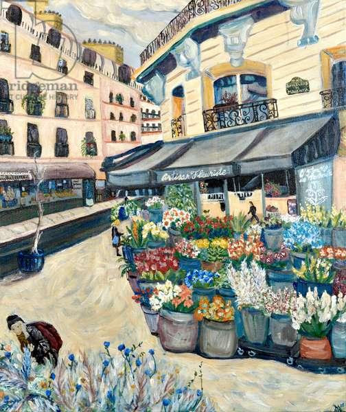 Covid Flowers, 2020 acrylic on canvas